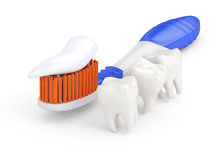 Toothbrush and teeth Royalty Free Stock Photo