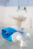 Toothbrush and toothpaste Stock Images