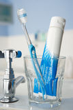 Toothbrush and toothpaste Royalty Free Stock Photography