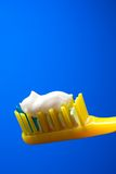 Toothbrush and toothpaste Royalty Free Stock Images