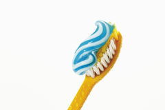 Toothbrush with toothpaste Royalty Free Stock Image