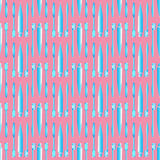 Toothbrush and toothpaste blue on the pink background seamless pattern Royalty Free Stock Photo