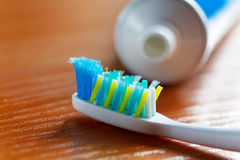 Toothbrush and toothpaste Royalty Free Stock Photo