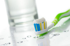 Toothbrush with toothpaste Stock Photo