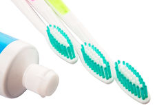 Toothbrush and Toothpaste IX Stock Photography