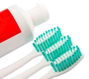 Toothbrush and Toothpaste V Stock Photos