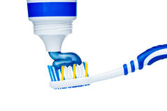 Toothbrush with toothpaste Stock Image