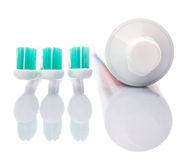 Toothbrush and Toothpaste XII Royalty Free Stock Images