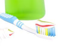 Toothbrush and touthpaste Royalty Free Stock Image