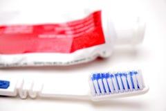 Toothbrush & tube Royalty Free Stock Photo