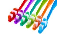 Toothbrush ustawiający odizolowywającym na białym tle Zdjęcia Royalty Free