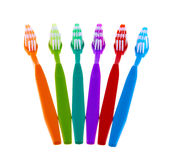 Toothbrush ustawiający odizolowywającym na białym tle Zdjęcie Stock
