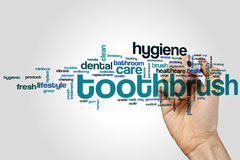 Toothbrush word cloud Royalty Free Stock Images