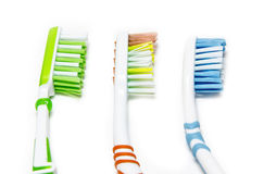 toothbrushes Stock Foto's