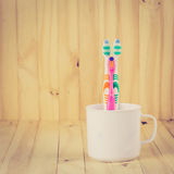 toothbrushes Images libres de droits