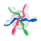 Toothbrushes aéreos Fotografia de Stock Royalty Free