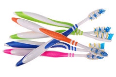 Toothbrushes (clipping path) Royalty Free Stock Images