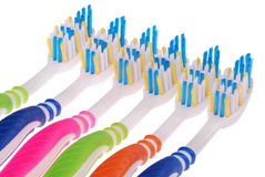 Toothbrushes (clipping path) Stock Photo