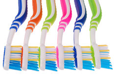 Toothbrushes (clipping path) Royalty Free Stock Photography