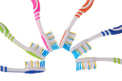 Toothbrushes (clipping path) Stock Photography