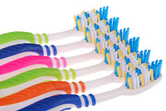 Toothbrushes (clipping path) Stock Images