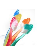 Toothbrushes coloridos imagens de stock
