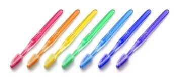 Toothbrushes di spettro di colore Immagini Stock Libere da Diritti