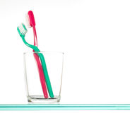 Toothbrushes in Glass Royalty Free Stock Photography