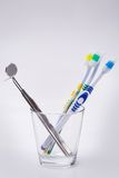 Toothbrushes in a glass Royalty Free Stock Photography