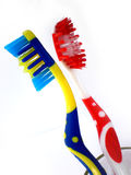Toothbrushes isolados no fundo branco fotografia de stock royalty free