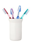 Toothbrushes isolated on white background Royalty Free Stock Image