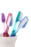 Toothbrushes isolated on white background Stock Image