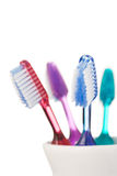 Toothbrushes isolated on white background Stock Images