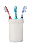 Toothbrushes isolated on white background Royalty Free Stock Photo