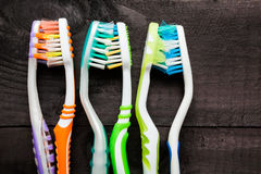 Toothbrushes kisses Stock Image