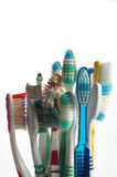 Toothbrushes old Royalty Free Stock Photos