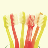 Toothbrushes old vintage retro style Royalty Free Stock Photo