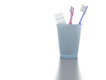 Toothbrushes and paste Royalty Free Stock Image