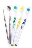 Toothbrushes on the table Stock Images