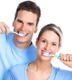 Toothbrushing Photographie stock