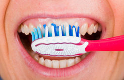 Toothbrushing Royalty Free Stock Images
