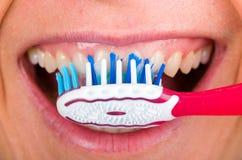 Toothbrushing Stock Photos