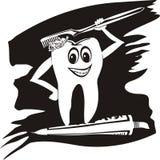Toothbrushing - pulisca i denti Fotografia Stock