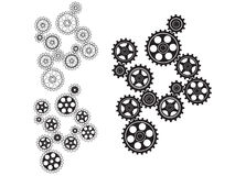 Toothed gears in a single mechanism. Vector illustration Royalty Free Stock Photography