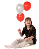 Toothless Balloon Girl Royalty Free Stock Images