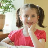 Toothless girl Royalty Free Stock Photography