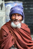 Toothless. Man smiling at the camera with a teethless smile in Dhaka Bangladesh Royalty Free Stock Photos