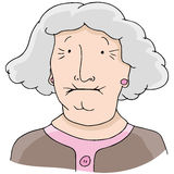 Toothless Old Woman Stock Images