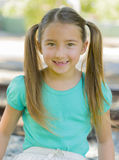 Toothless Smile and Pigtails Stock Photography