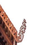 Toothlikeranden op de hellende randen van een geveltop Stock Afbeelding